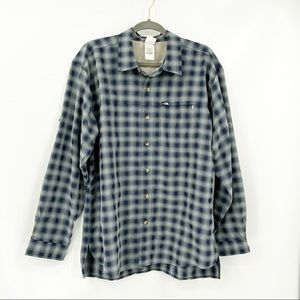 The North Face plaid long sleeve button shirt